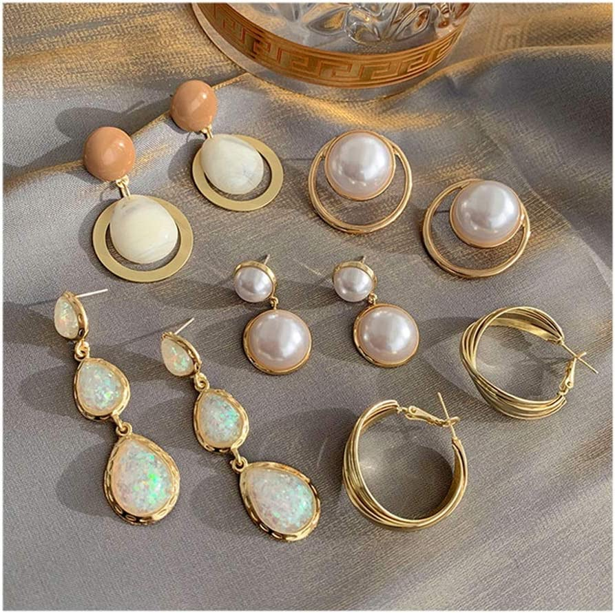 Earrings 5 Pairs Oakland Mall Assorted Multiple for Set G Women 40% OFF Cheap Sale Stud