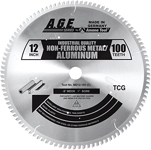 "wholesale A.G.E. wholesale Series by Amana Tool A.G.E. Series - Non-Ferrous 12"" 2021 X 100T 1"" Bore (MD12-105) online"