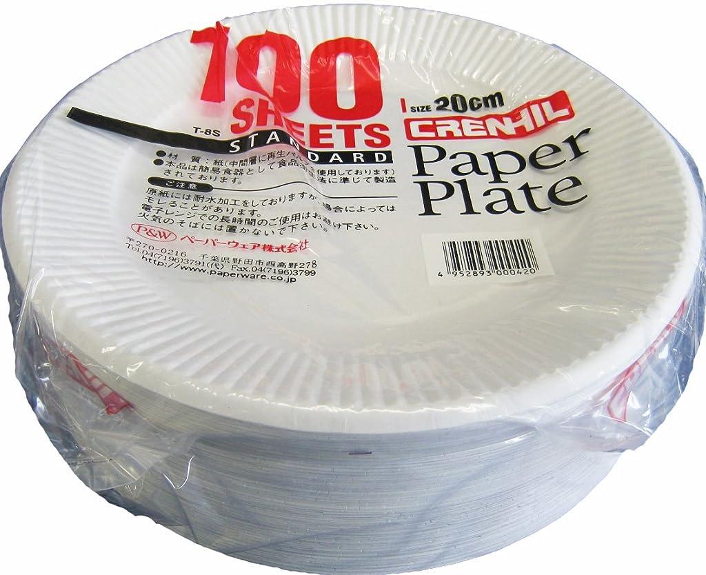 合意毎日ミュウミュウスタンダード 紙プレート 20cm 100枚入