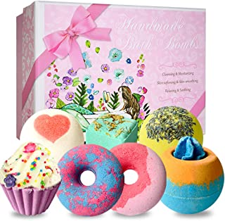 Bath Bombs, STNTUS 7 Luxurious Bath Bomb Gift Set, Handmade Spa Bubble Fizzies, Shea Cocoa Butter Lush Moisturize, Bath Gift for Women or Kids, Gifts for Christmas Birthday Valentines Mothers Day