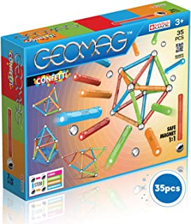 Geomag 351 Confetti Magnetic Construction Set, 35-Pieces
