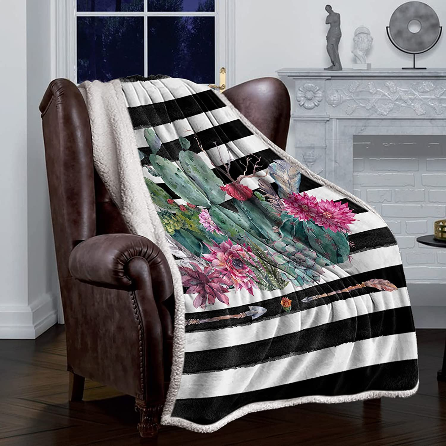 Throw Blanket Cozy Cheap SALE Start Comfy Sherpa Blankets Outlet ☆ Free Shipping Plan Fleece Watercolor