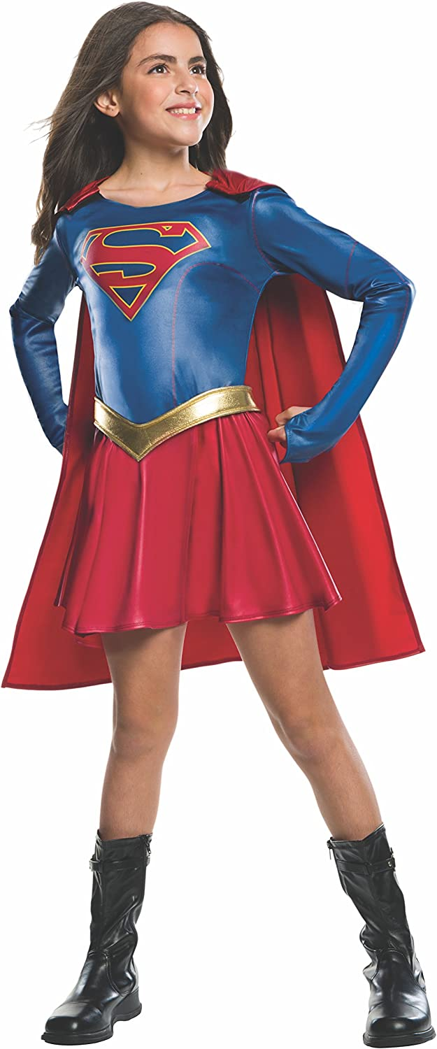 LICENSED SUPERGIRL DC SUPER HERO CHILD GIRLS FANCY DRESS HALLOWEEN COSTUME