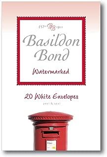 Basildon Bond White Envelopes - Watermarked - Pack of 20 - Size 5.6
