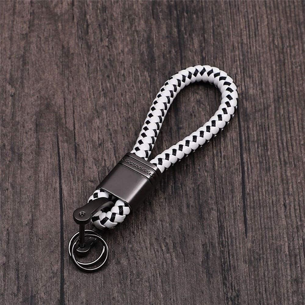 JIAH Beautifully Car Manufacturer regenerated product Max 77% OFF Keyrings Braided Rings Pe Circle Woven Rope