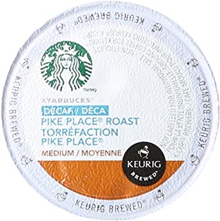 Starbucks Decaf Pike Place Roast K Cups, 24 Count (Pack of 2)