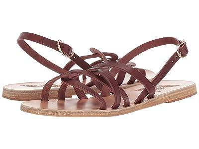 Ancient Greek Sandals Schinousa (Chestnut) Women