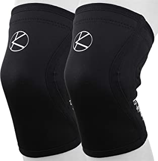5mm Knee Sleeves for Weightlifting with Bag (Pair) - Best Plus Size 5 mm Knee Support for Men, Women, Crossfit, Compression, Powerlifting, Bodybuilding, Squats, Fitness, Gym, WOD in Sizes XS- 6XL