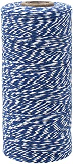 Just Artifacts ECO Bakers Twine 240-Yards 4Ply Striped Royal Blue - Decorative Bakers Twine for DIY Crafts and Gift Wrapping