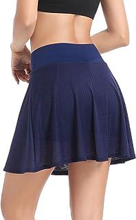 Annjoli Women's Active Performance Casual Skort Lightweight Skirt for Running Tennis Golf Workout Sports