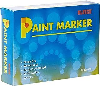 Alteco Paint Marker Black 1x12 Pcs