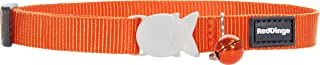 Red Dingo Classic Cat Collar, One Size Fits All, Orange