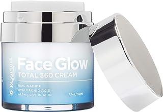 Face Glow Total 360 Cream with Alpha Lipoic Acid, DMAE, Vitamin C Ester, Hyaluronic Acid, and Italian Blood Orange