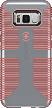 Speck Products (90211-B994) CandyShell Grip Cell Phone Case for Galaxy S8 - Nickel Grey/Warning Orange