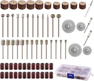 Rotary Tool Accessories Kit, ZFE Stone Carving Set Diamond Coated Grinding Head Burr Accessories Polishing Kits for Engrav...