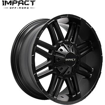 """Impact Off Road Rims Wheels 20x9"""" 5x150mm/5x5.9"""" +18mm Satin Black"""
