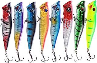 Sougayilang Fishing Lures Large Hard Bait Minnow VIB Lure with Treble Hook Life-Like Swimbait Fishing Bait 3D Fishing Eyes...