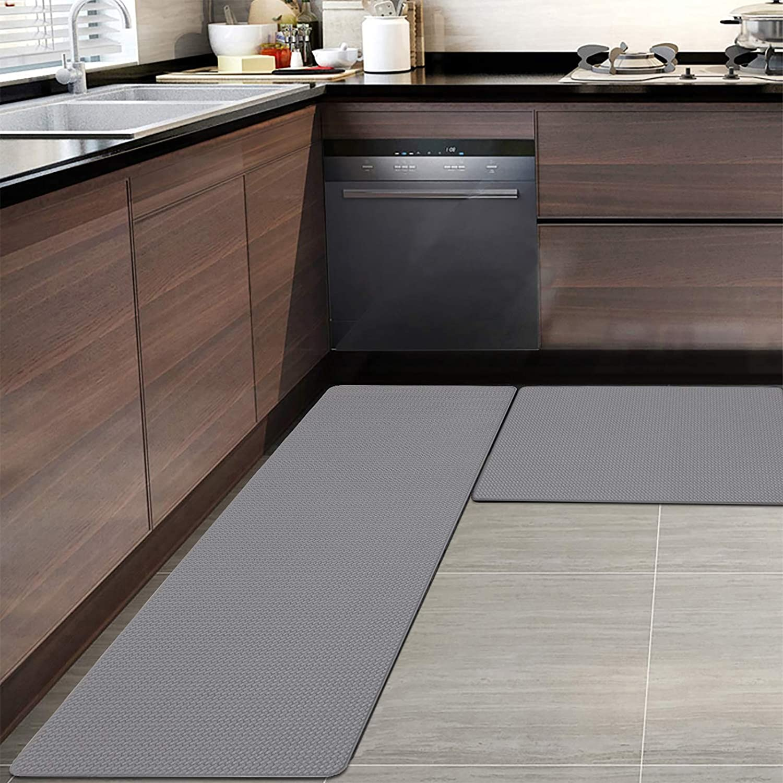 9X9+9X9, Grey HEBE Anti Fatigue Kitchen Floor Mats Set of 9 ...