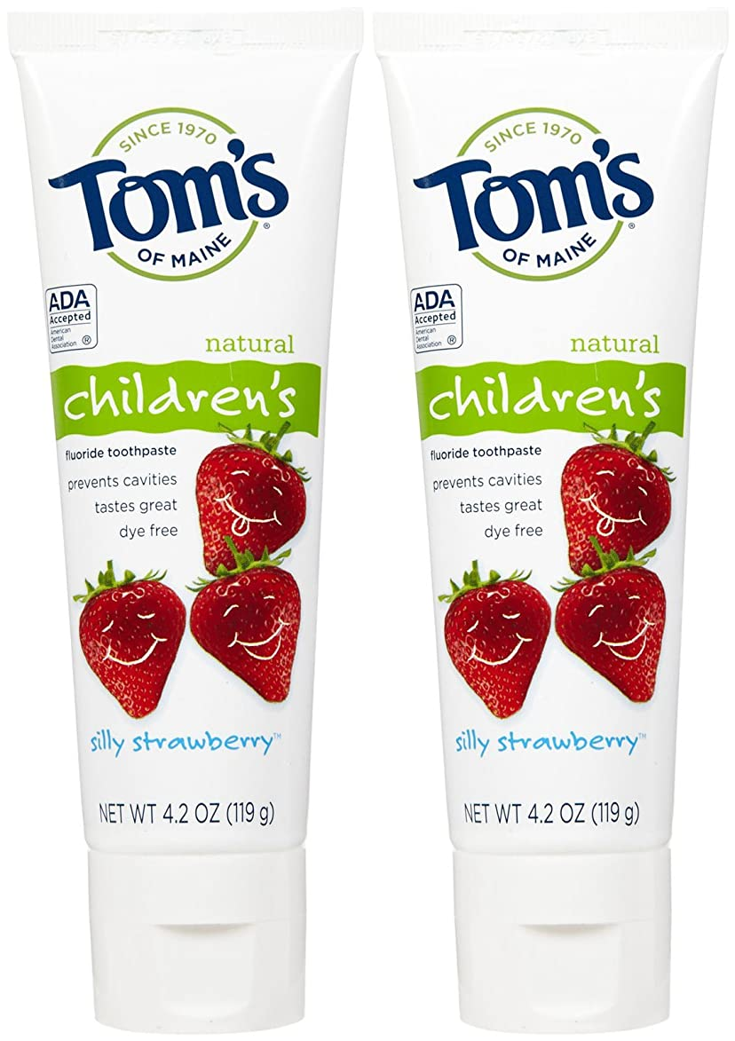 無法者疑い者喪Tom's of Maine Anticavity Fluoride Children's Toothpaste - 4.2 oz - Silly Strawberry - 2 pk by Tom's of Maine