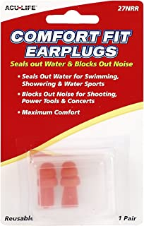 Acu-Life Comfort Fit Ear Plugs/Earplugs | 1 Pair | NRR 27 | Made in The USA