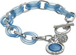 Lucite Links Toggle Bracelet with Charms