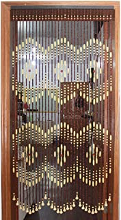 GuoWei Wooden Beaded Curtain for Doorway Passage Room Divider Decor Hanging Door Screen Rustic (Color : A, Size : 51 strands-120x180cm)