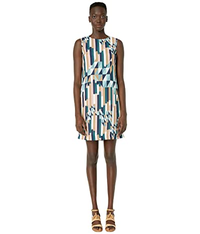 M Missoni Shift Dress in Broken Stripe Print (Blue) Women