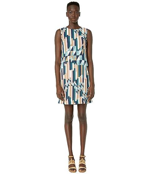M Missoni Shift Dress in Broken Stripe Print