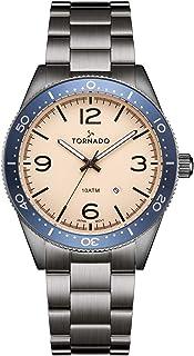 TORNADO Men's Multi Function Beige Dial Watch - T20004-XBXIL
