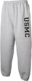 USMC Athletic Marines Military Style Sweat Pants in Gray