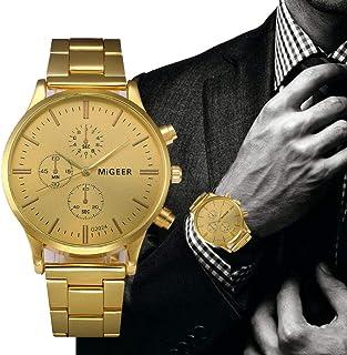 Promotion!Mens Luxury Watch 3 Dial Business Fashion Golder Analog Wrist Watch Zulmaliu