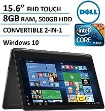 2016 Dell Inspiron 15 7000 Series 2-in-1 Convertible Full HD Touchscreen Laptop, Intel Core i5-6200U, 8GB DDR3 RAM, 500GB HDD, HDMI, WIFI, Webcam, Backlit Keyboard, Windows 10