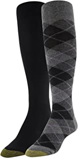 Women's Winter Plaid and Flat Knit Knee Highs, 2 Pairs