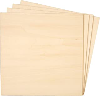 Bright Creations 8-Pack Basswood Plywood Thin Sheets for Wood Burning, Laser Cutting, 1/4 x 8 Inches