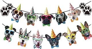 Dog Theme Birthday Party Decorations,Dog happy birthday Banner,Dogs Birthday Garland for Children