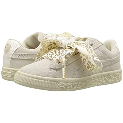 Puma Kids Suede Heart Athluxe PS (Little Kid) (Whisper White/Puma Team Gold) Girls Shoes
