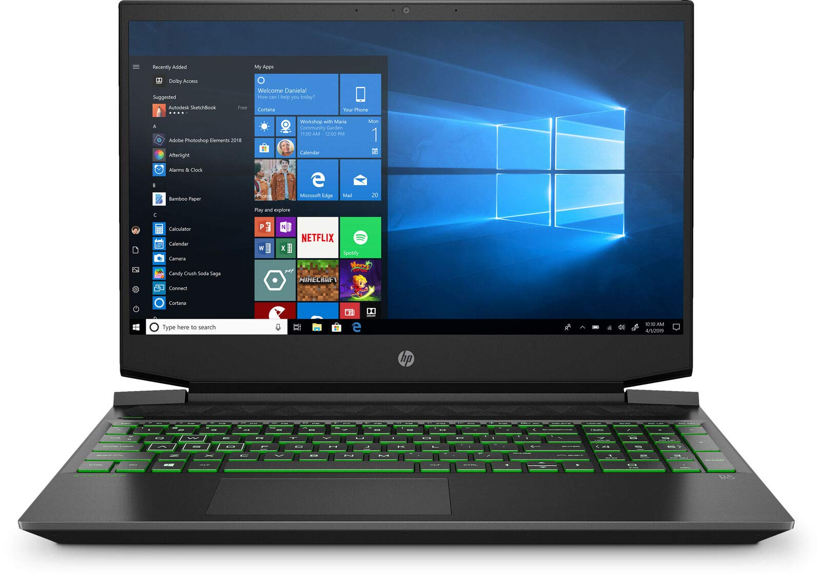 HP Pavilion Premium Quad Core Keyboard