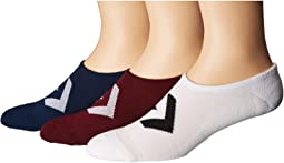 Color Contrast Star Chevron Made for Chuck Ox 3-Pair Pack