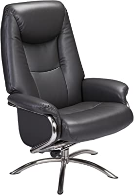 Furniture HotSpot – Black Recliner and Ottoman/Euro Chair