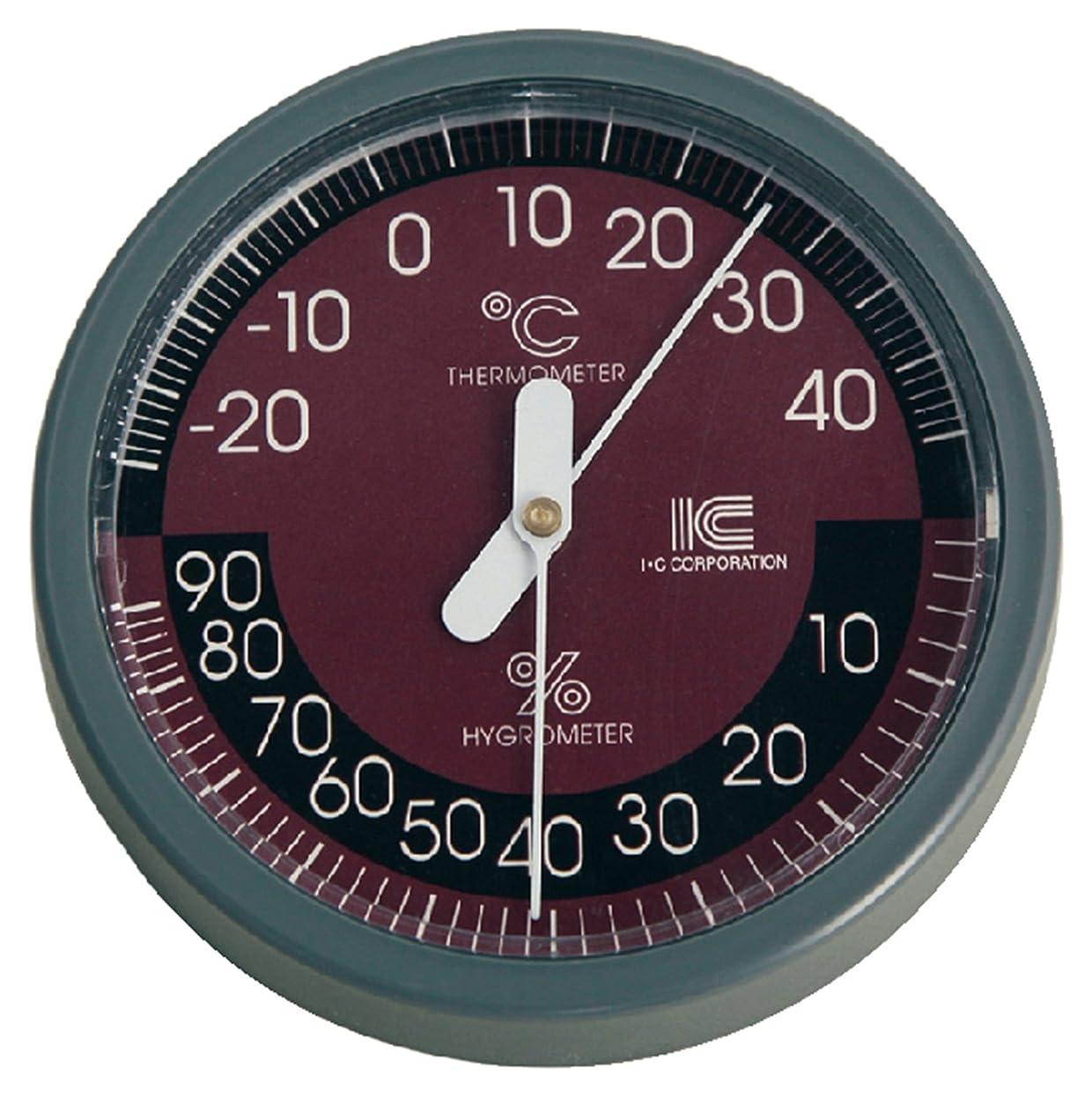 もっともらしいそれから三アイシー 温湿度計 サーモ421 フック穴スタンド付き -25~45℃