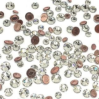 Crystal (001) Clear 2038/2078 Swarovski Iron on HOTFIX Mixed Sizes ss12 ss16 ss20 Flatbacks Round Rhinestones Embellishment