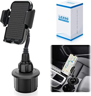Car Cup Holder Phone Mount,Universal Smart Adjustable Automobile Car Phone Mount for iPhone 11/Xs/Max/XR/8/7/6 Plus Samsung Galaxy S10/S9/S8 Note9 Nexus Sony、HTC、Huawei and All Smartphones
