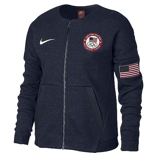 Nike Girl s Tech Fleece Team USA Big Kids  Jacket 40d034bab