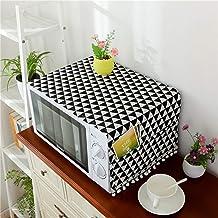 HHYK Cubierta de microondas Horno microondas Campana Aceite de la Cubierta de Polvo con Bolsa de Almacenamiento Accesorios Cocina de la decoración del hogar