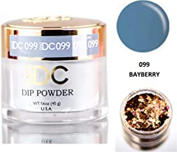 DND DC Blues & Greens DIP POWDER for Nails 1.6oz, 45g, Daisy Dipping (with bonus side Glitter) Made in USA (Bayberry (099))