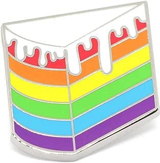 Gay Pride Lapel Pin Rainbow Cake Enamel Brooch LGBTQ Flag Accessory
