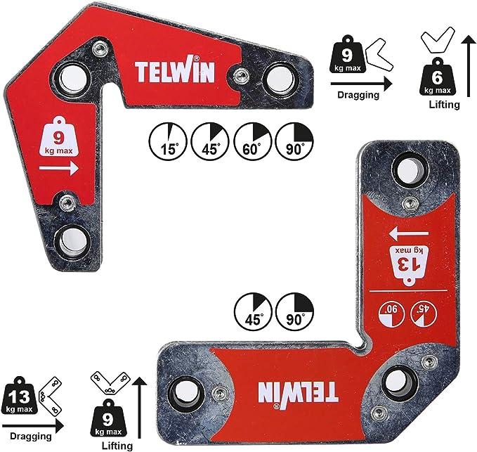 1019 opinioni per Telwin 804131 Posizionatori magnetici, 9-13 kg