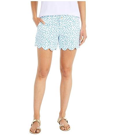 Lilly Pulitzer Buttercup Stretch Shorts (Zanzibar Blue Lillys Dot Inverse) Women