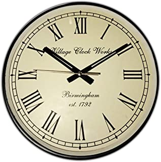 Improvhome Vintage Designer Wall Clock 12 Inches for Home/Living Room/Bedroom/Kitchen