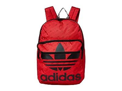 adidas Originals Originals Trefoil Pocket Backpack (Scarlet Monogram/Black) Backpack Bags